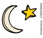 cartoon doodle moon and star... | Shutterstock . vector #1180556845
