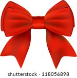 red bow isolated | Shutterstock .eps vector #118056898