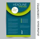 flyer template. design for a... | Shutterstock .eps vector #1180569952