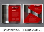 square flyer template. simple... | Shutterstock .eps vector #1180570312