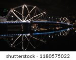 reflection of bridge | Shutterstock . vector #1180575022