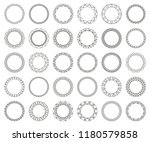 large set of round frames.... | Shutterstock .eps vector #1180579858