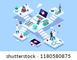 persons at office  medical... | Shutterstock .eps vector #1180580875