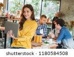 portrait asian business woman... | Shutterstock . vector #1180584508