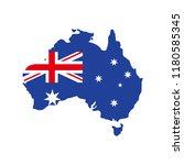 map of autralia australia flag... | Shutterstock .eps vector #1180585345