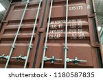 A Container With Closed Doors
