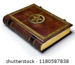 Aged Brown Leather Book With...