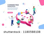 isometric concept  wifi... | Shutterstock .eps vector #1180588108