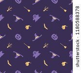 halloween seamless pattern... | Shutterstock .eps vector #1180588378