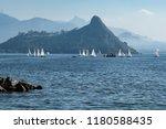 Blue Sea  With Sailboats  Sea...