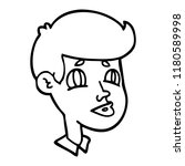 line drawing cartoon of a boy... | Shutterstock . vector #1180589998