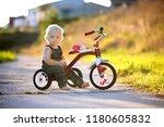 cute toddler child  boy ... | Shutterstock . vector #1180605832