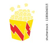 cartoon doodle cinema popcorn | Shutterstock . vector #1180606015