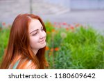 portrait of beautiful young... | Shutterstock . vector #1180609642