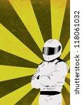 motorsport driver poster color... | Shutterstock . vector #118061032