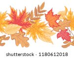 seamless horizontal border... | Shutterstock .eps vector #1180612018