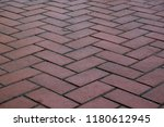 cobble stone pavement surface...   Shutterstock . vector #1180612945