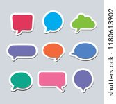 text bubble set with different... | Shutterstock .eps vector #1180613902