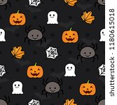 seamless halloween vector... | Shutterstock .eps vector #1180615018