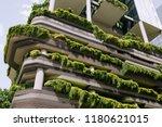Green Nature Facade On Modern...