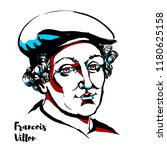 francois villon engraved vector ...   Shutterstock .eps vector #1180625158