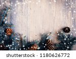 christmas composition. frame... | Shutterstock . vector #1180626772