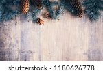 christmas composition. frame... | Shutterstock . vector #1180626778