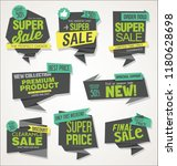 modern sale banners and labels... | Shutterstock .eps vector #1180628698