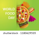 world food day food day... | Shutterstock .eps vector #1180629535