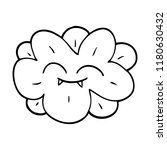 line drawing cartoon flower... | Shutterstock . vector #1180630432