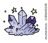 cartoon doodle magical crystal | Shutterstock . vector #1180640248