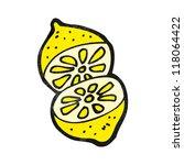 sliced lemon cartoon | Shutterstock .eps vector #118064422