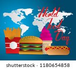 world food day food day... | Shutterstock .eps vector #1180654858