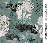 abstract floral seamless... | Shutterstock . vector #1180657555
