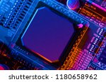 electronic circuit board close... | Shutterstock . vector #1180658962