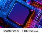 electronic circuit board close... | Shutterstock . vector #1180658962