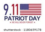 patriot day 9.11 . memorial day ... | Shutterstock .eps vector #1180659178