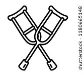 crutches icon. outline crutches ...   Shutterstock .eps vector #1180665148