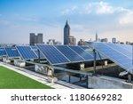solar and modern city skyline  | Shutterstock . vector #1180669282