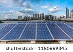 solar and modern city skyline  | Shutterstock . vector #1180669345