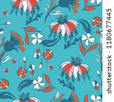 seamless pattern with vintage...   Shutterstock .eps vector #1180677445