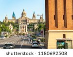 view of the fountains in the... | Shutterstock . vector #1180692508