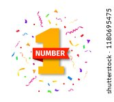 number one illustration with... | Shutterstock .eps vector #1180695475