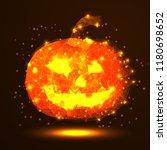 happy halloween. a golden... | Shutterstock .eps vector #1180698652