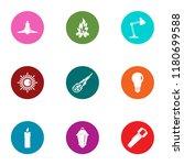 blaze icons set. flat set of 9... | Shutterstock .eps vector #1180699588