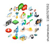 occupation icons set. isometric ... | Shutterstock .eps vector #1180707052