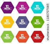 technician service icons 9 set... | Shutterstock .eps vector #1180707085