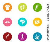 spirit icons set. flat set of 9 ... | Shutterstock .eps vector #1180707325