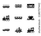 steam locomotive icons set.... | Shutterstock .eps vector #1180707442