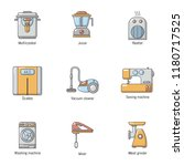 domestic life icons set.... | Shutterstock .eps vector #1180717525
